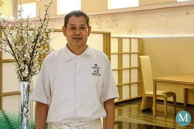 Chef Rinnosuke Mouri of Yamazato Restauarant Hotel Okura Manila