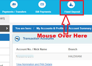 how to book fixed deposit in sbi online