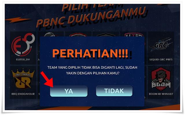Cara Mengikuti event Voting Final PBNC 2018