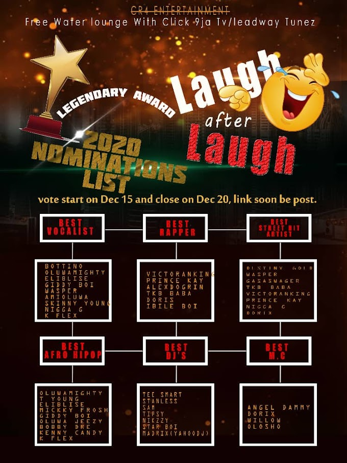 Legendary Award: Laugh After Laugh Season '1' (2020 Nomination List)