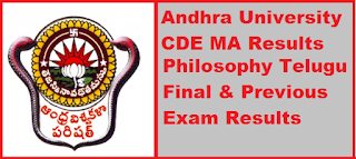 Andhra University CDE MA Results 2019