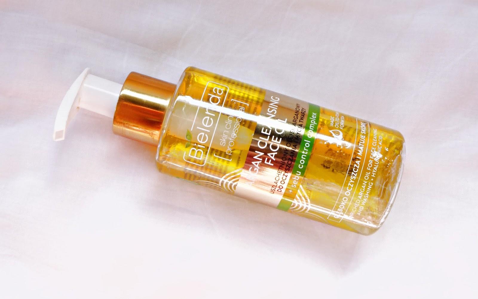 Argan cleasing face oil (sebum control complex) de Bielenda, un aceite limpiador low cost
