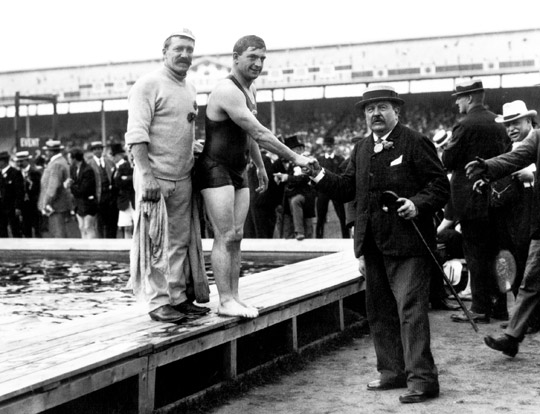 Olympic swimmer Henry Taylor first Briton to win three gold medals at a single Games (400m 1,500m and 4x200m freestyle relay.Your Russians are missing and other stories about past Olympics. marchmatron.com