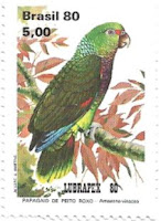 Selo papagaio-de-peito-roxo