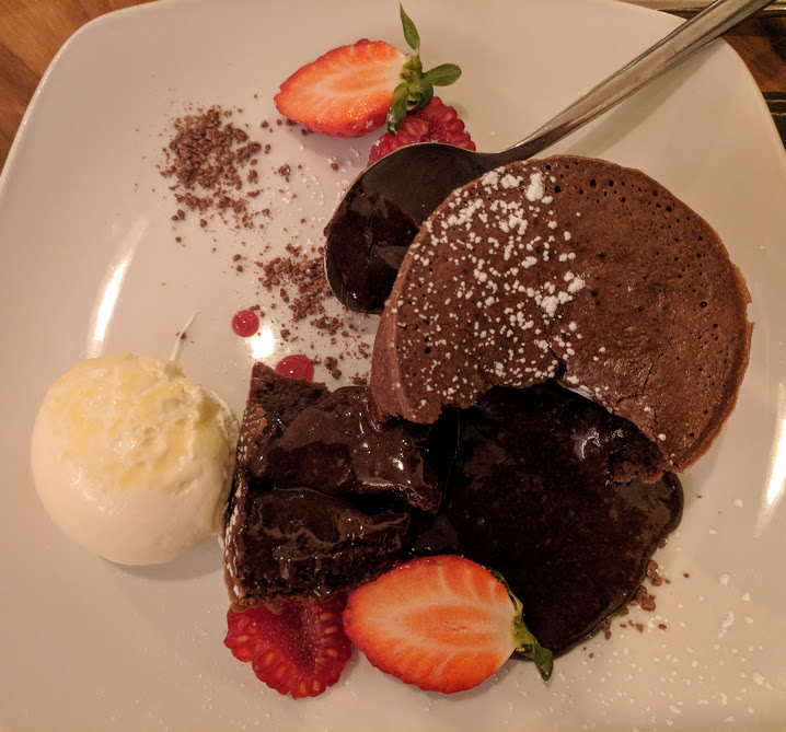The Sands Resort Cornwall Review | A Family Hotel with Kids Club near Newquay  - chocolate fondant dessert