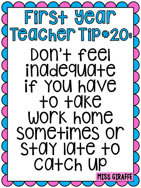 First year teacher tips don't feel inadequate if you take work home from school and other great tips for new teachers
