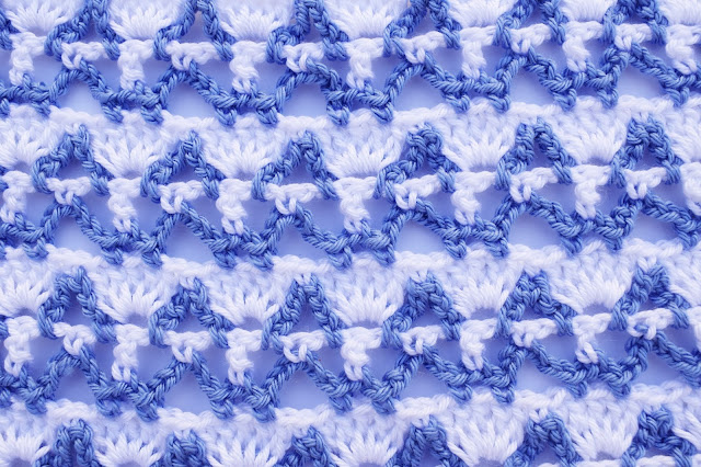 6 - Crochet Imagenes Puntada combinada dos colores a crochet y ganchillo por Majovel crochet