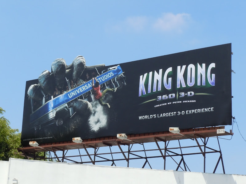 King Kong Universal Studios ride billboard