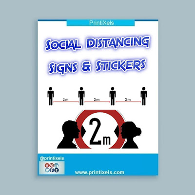 Custom Social Distancing Signs & Stickers Philippines