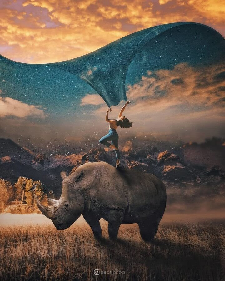 07-Rhino-Night-and-Day-Septian-Bayu-Abdullah-Surrealism-www-designstack-co