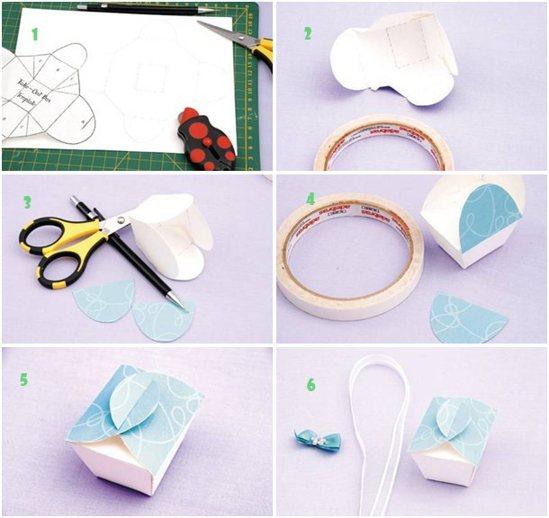 cara membuat gift box cantik