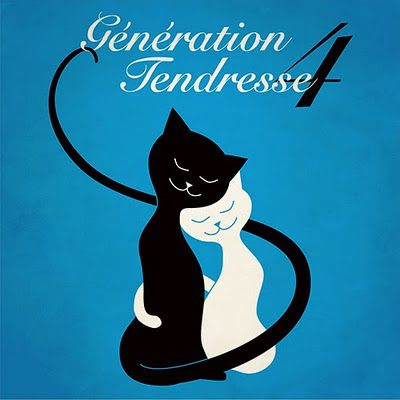Génération Tendresse part 4 - music cover with illustration of two cute cats in a hug