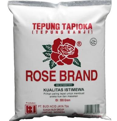 Bahan untuk Resep Nagasari Tepung Beras Rosebrand