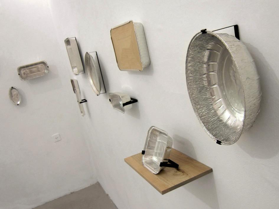 portraits embossed on aluminum foil pans