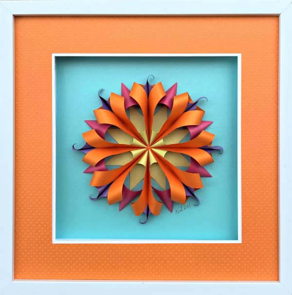 framed paper sculpture wall art