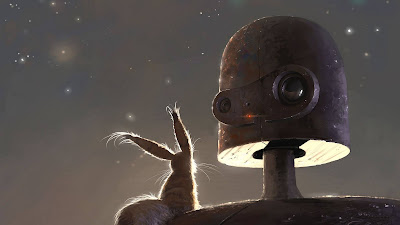 Fantasy Art, Robot, Pet, Friendship