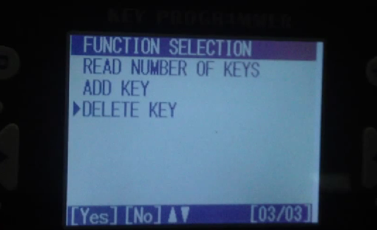 "Select ""DELETE KEY"""