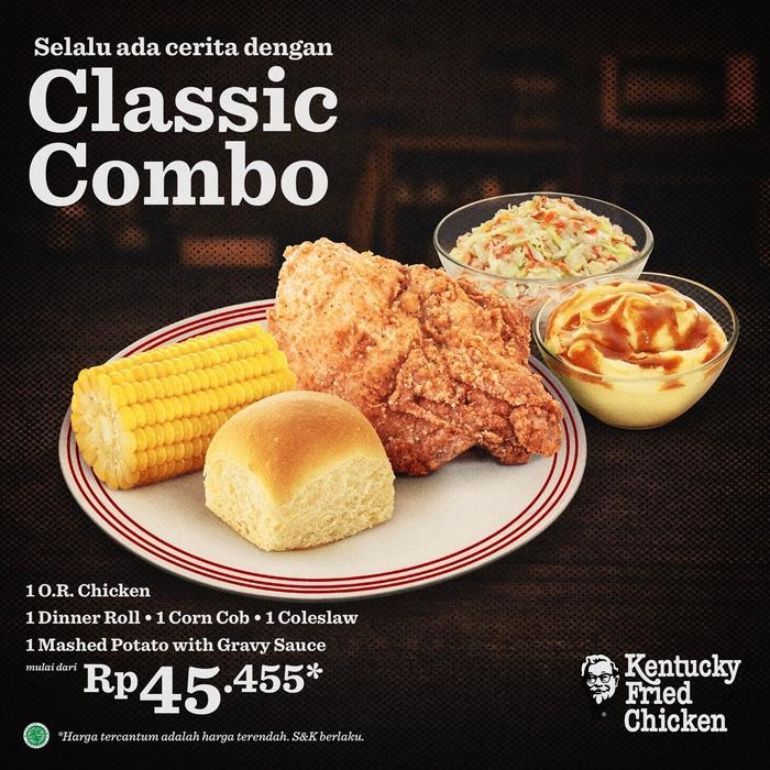 harga menu classic combo kfc