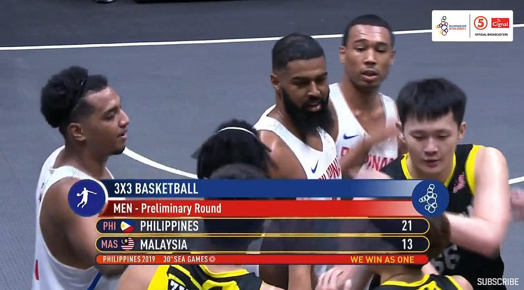 Gilas Pilipinas def. Malaysia, 21-13 (VIDEO) Men's 3x3 | SEA Games 2019
