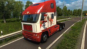 Scuderia Ferrari skin for Freightliner Argosy Reworked