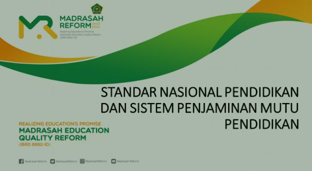 Standar Nasional Pendidikan dan Sistem Penjaminan Mutu Pendidikan