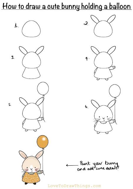 Easy bunny to draw. Easy beginners art tutorial