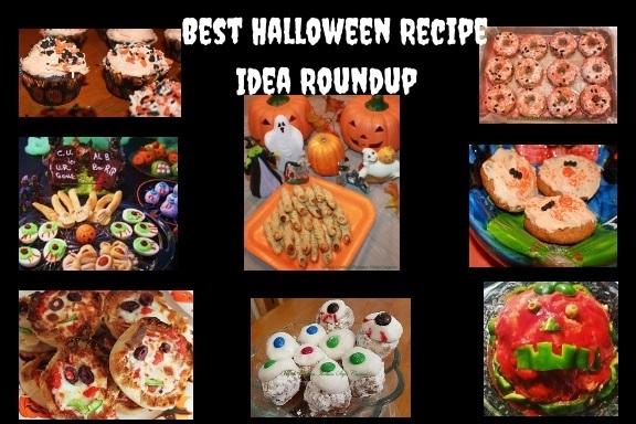 assorted fun foods for Halloween