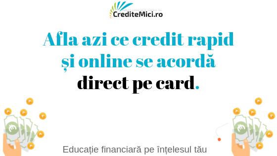 credit online rapid direct pe card