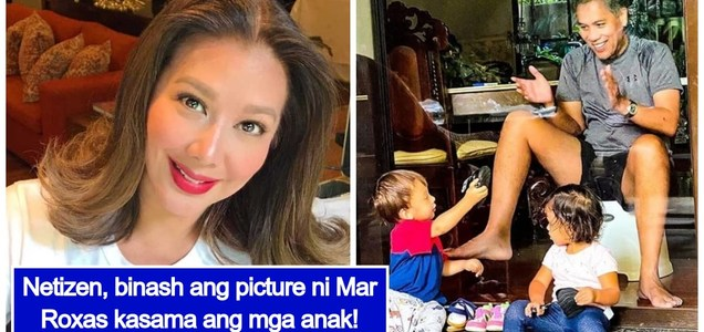 LOOK: Korina Sanchez slams netizen who bashed the photo of her husband, Mar Roxas, with their twins