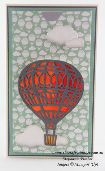 www.thecraftythinker.com.au, Lift Me Up, Hot Air Balloon, Interactive card, #thecraftythinker, Stampin Up Australia Demonstrator, Stephanie Fischer, Sydney NSW
