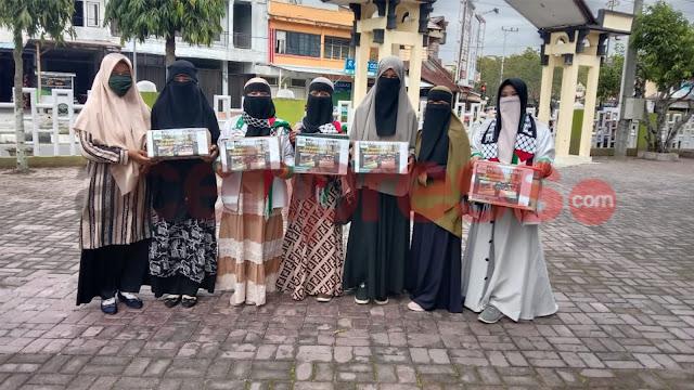 Mujahidah Persaudaraan Islam (MPI) Aceh Barat Peduli Musibah Kebakaran Dayah Serambi Mekkah