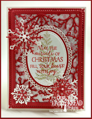 Our Daily Bread Designs Stamp Sets: Joys of the Season, Merry & Bright, Our Daily Bread Designs Custom Dies: Stitched Ovals, Ovals, Snowflake Sky, Snowflake Crystals, Ornate Ovals, Our Daily Bread Designs Paper Collection: Snowflake Season