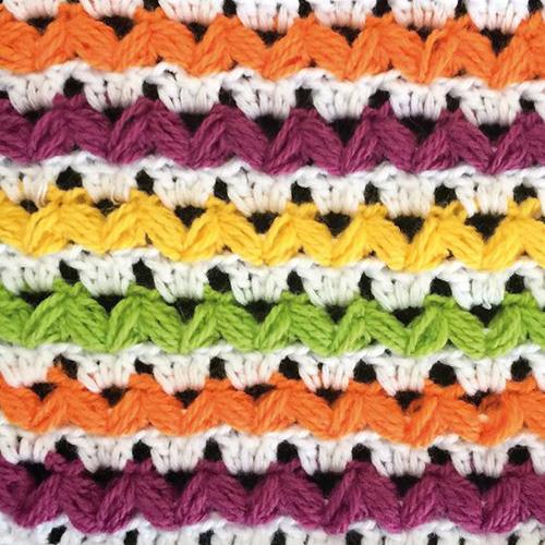 Striped Puff Stitch - Free Diagram