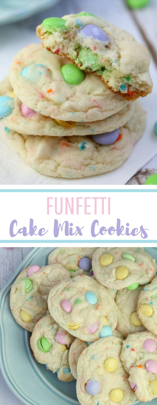 Funfetti Cake Mix Cookies #dessert #easter
