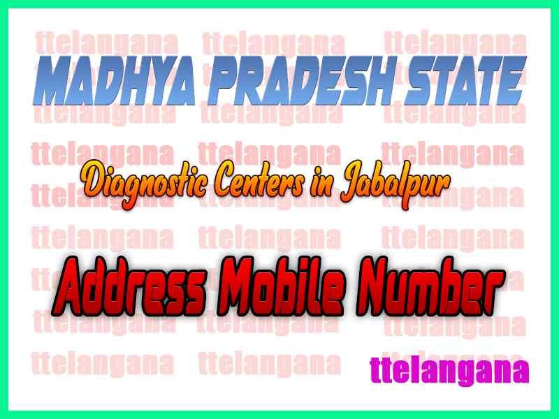 Diagnostic Centers in Jabalpur Madhya Pradesh