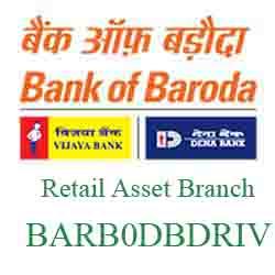 New IFSC Code Dena Bank of Baroda Retail Asset Branch, Ashram Road