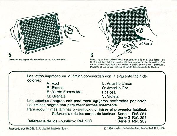 Lumirama Madel instrucciones 2