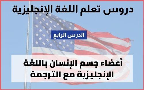 كلمات انجليزية مترجمة للعربية: أعضاء الجسم