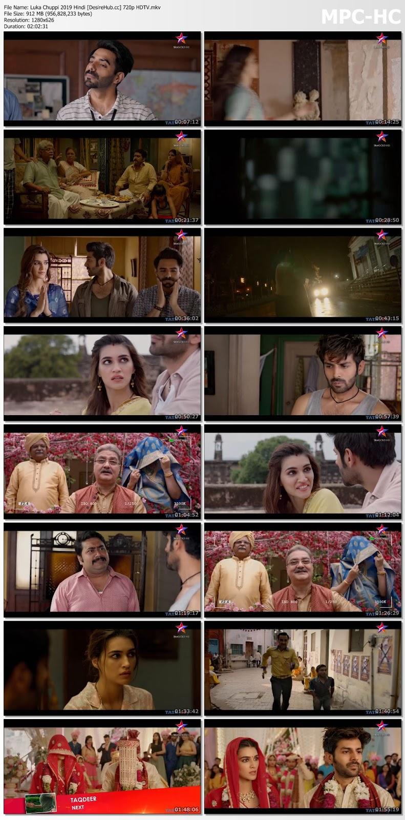 Luka Chuppi 2019 Hindi 720p HDTV 900MB Desirehub