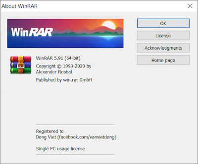 Download WinRAR mới nhất Windows 10 32 bit/64 bit.