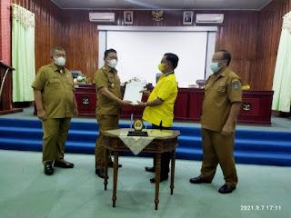 DPRD Sibolga Setujui 5 Ranperda Untuk Dijadikan Perda
