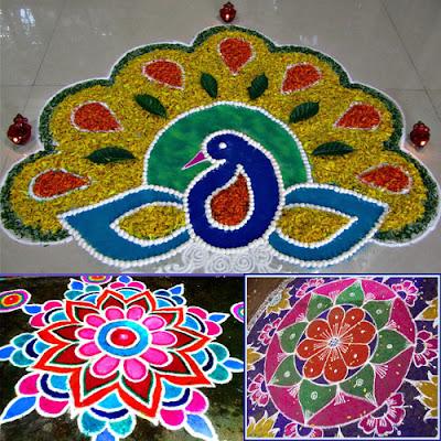 Peacock Rangoli Designs Images