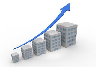 家賃や販売価格と世帯年収が比例しているイメージ