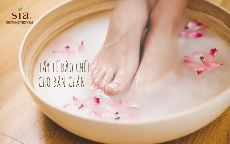 tẩy tế bào chết cho chân luôn là điều cần thiết trong các bước chăm sóc da của người nhật