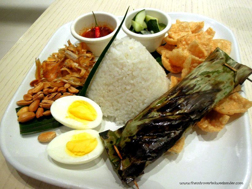 Nasi lemak for dinner at The Beach House at Costa Pacifica