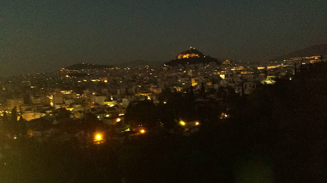 Looking out over Athens from the Acropolis