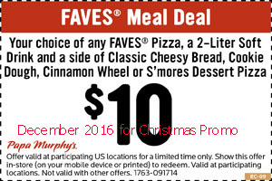 free Papa Murphys coupons for december 2016