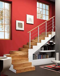 desain ruang keluarga bawah tangga | tips rumah | interior
