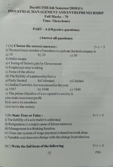 Assam Engineering Institute Library: Q  Paper 6th Chemical