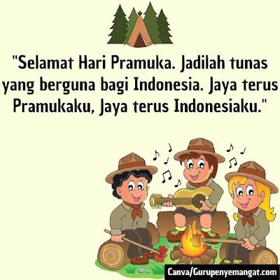 Gambar Ucapan Selamat Hari Pramuka Indonesia (2)